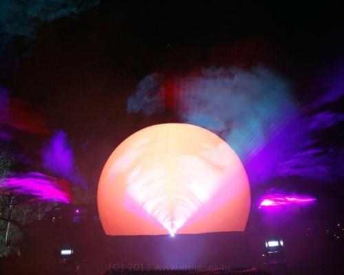 Attractiepark Slagharen Miracle Of Lights Lampjes Multimediashow Laser Lasershow Projectiebol