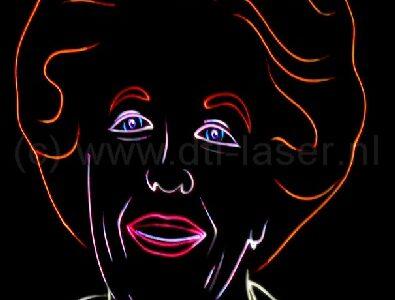 Dongen Koningsdag Show Themashow Lasershow Laser Animatie Beatrix