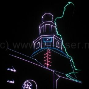 Laseranimaties ,kerktoren