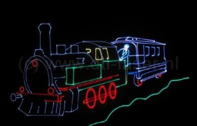 Laseranimatie, trein