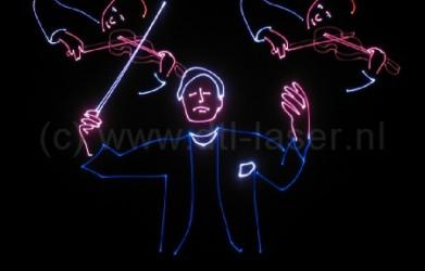 Laseranimatie, orkest