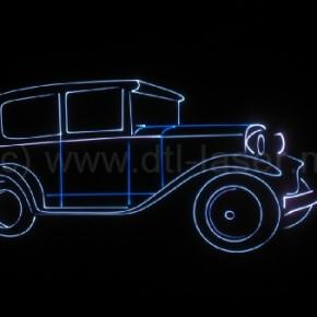 Laseranimatie, oude auto