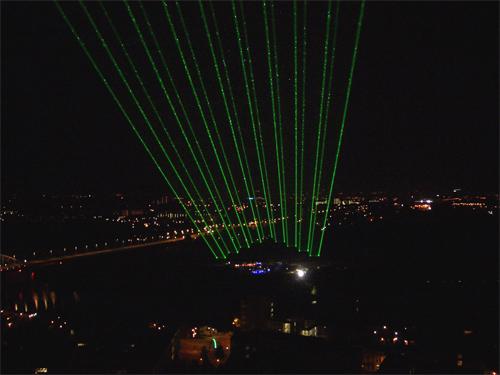 Laser waaier patroon Arnhem