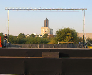 Waterscherm opstelling Arnhem