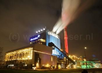 Electrabel Architectural Lighting Uitlichten Gebouwen Blauw