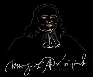 Michiel De Ruyter, lasershow Vlissingen, Lasershow Flight Into History