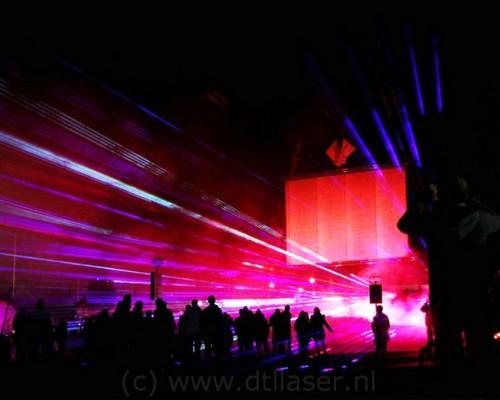 Huizen Projectiescherm Gaasscherm Projectie Laser Lasershow
