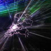 Laser, Lasershow ,Flight Into History Show, Nederland