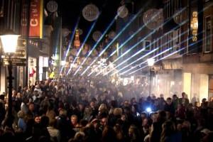 Alkmaar Shoppingnight Waaierpatroon Laserstralen Laser Lasershow
