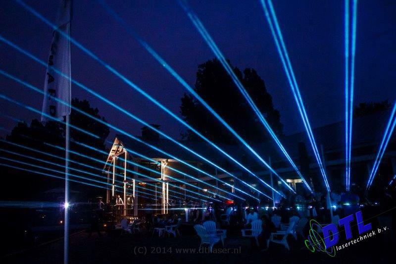 Beachhouse Woodward Waterspektakel Flyboard Nightshow Laser Show Lasereffecten