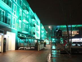 Zaailand Leeuwarden Architectural Lighting Gebouw Uitlichten Groen