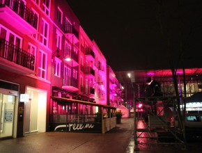 Zaailand Leeuwarden Architectural Lighting Gebouw Uitlichten Roze