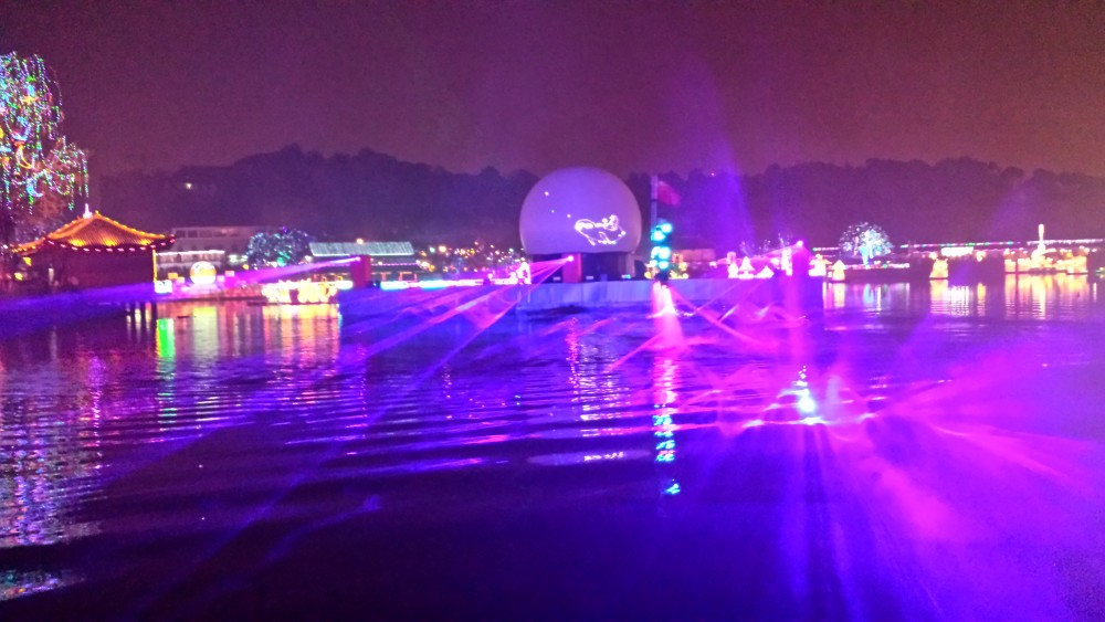 China Flyboard Nightshow Laser Multimedia Show Projectiebol Xendu