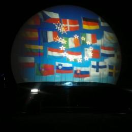 Almere, Laserprojectie ,Projectiebol