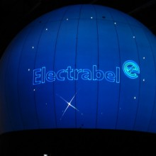 Electrabel Multimediashow Projectiescherm Projectiebol Projectie