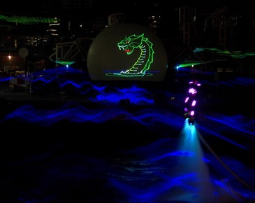 Huisman Equipment Schiedam Flyboard Nightshow Laser Animatie Lasershow Multimediashow