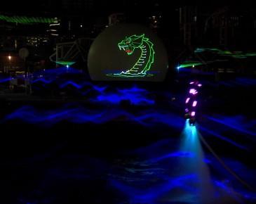 Huisman Equipment Schiedam Flyboard Nightshow Laser Animatie Lasershow Multimediashow
