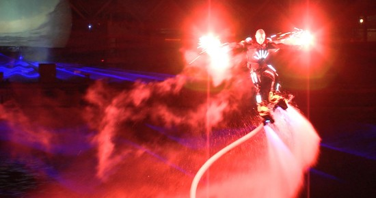 Huisman Equipment Schiedam Flyboard Nightshow Laser Rood