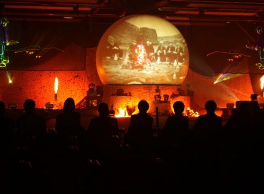 Sculpturepark Zuidlaren, Multimedia show, lasershow,Laserprojectie, Projectiebol, Laser