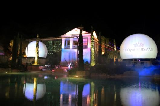 Monaco Royal Huisman Shipyards Laserprojectie Projectiebol Laser Lasershow