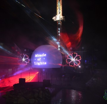 Slagharen, Miracle Of Lights, Laserprojectie, Projectiebol,Lasershow, Multimedia Show