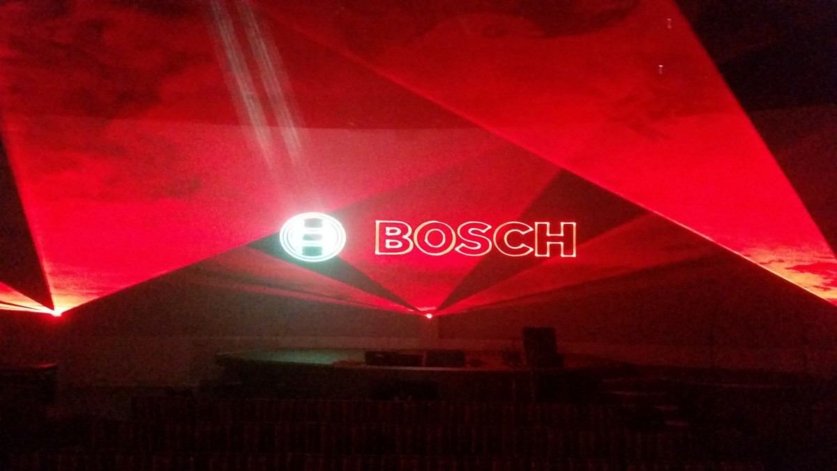 Bosch Siemens Neff Multimediashow Laser Lasershow Productpresentatie Hoofddorp Logo