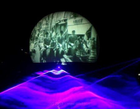 Flyboard Nightshow Nijkerk Laser Lasershow Lasereffecten Projectiebol Projectie