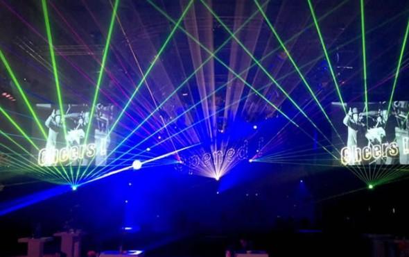 De Jonge Antwerpen Multimediashow Lasershow Binnen