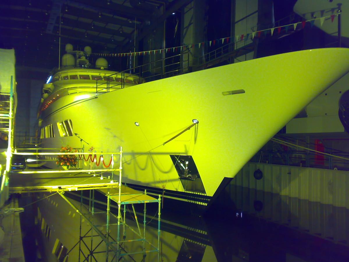Uitlichten Boot Architectural Lighting Yachts Geel