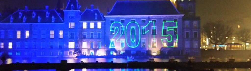 lasershow, laserprojectie, Den Haag, Nieuwjaarsnacht Viering, laserprojectie Gebouw, Laserprojectie Hofvijver, Lasershow