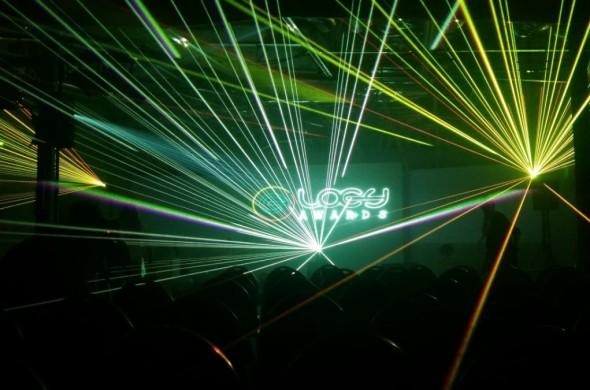 Loey Awards ,lasershow, laseranimatie