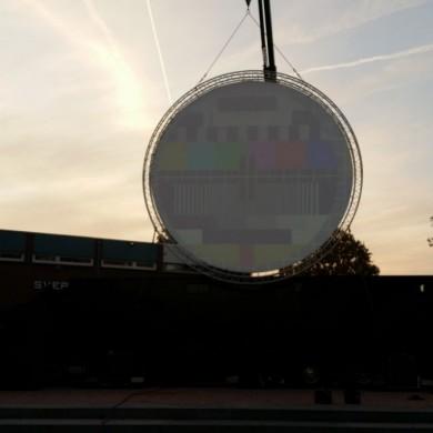 Lasershow Epe cirkelscherm