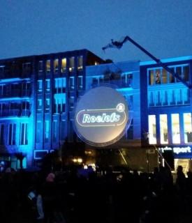 Cirkelscherm projectie Brouwersgracht Veenendaal