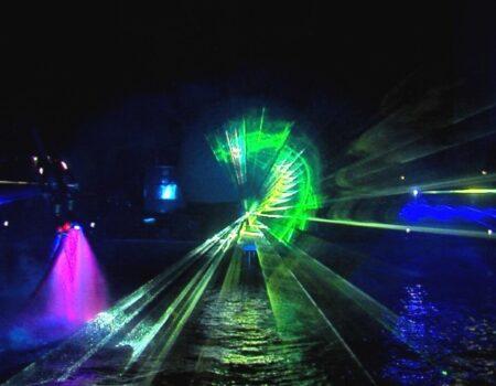 Flyboard Nightshow Nijkerk Laser Lasershow Lasereffecten Projectiebol Water