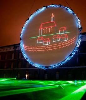 Boreel Deventer start bouwactiviteiten laser vuurwerk cirkel truss rond projectiescherm