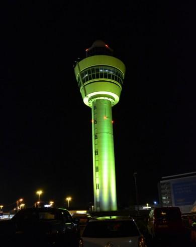 Uitlichten Schiphol Toren Geel
