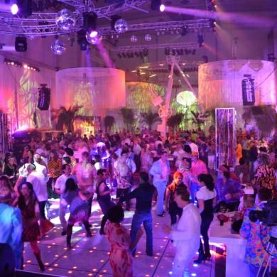 Uitlichten lasershow bedrijfsfeest
