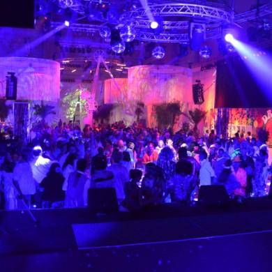 Uitlichten lasershow bedrijfsfeest Antwerpen