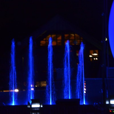 Slagharen Waterfontein Projectiebol Multimediashow Laser Blauw