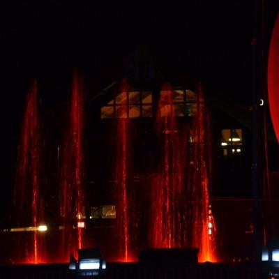 Slagharen Waterfontein Projectiebol Multimediashow Laser Rood