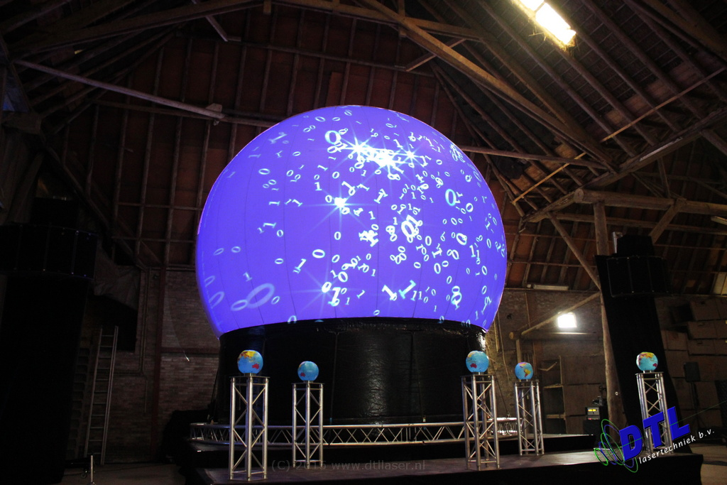Eemshaven Groningen Seaports Nieuwjaarsreceptie Laserprojectie Projectiebol Laser Lasershow Paars