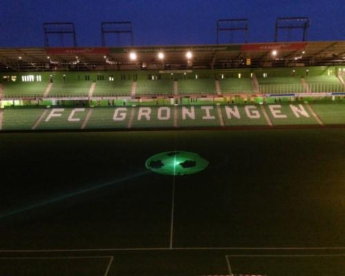 Fc Groningen Euroborg ,Voetbal, Laserprojectie, Objecten, Lasershow