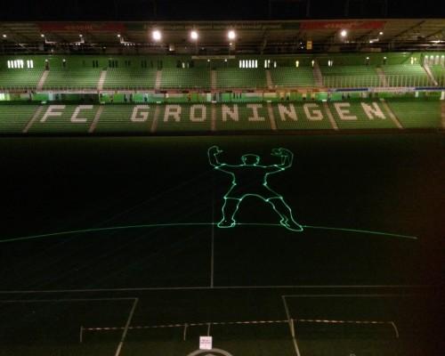 Fc Groningen Euroborg, Veld ,Laserprojectie, Objecten, Lasershow