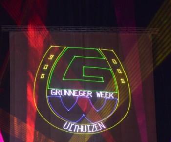 Uithuizen Projectiescherm Gaasscherm Projectie Laser Lasershow Animatie