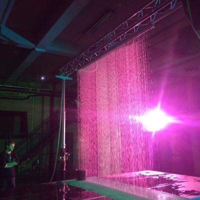 Q Dance Waterscherm Laser Lasershow Effecten Podium Paars
