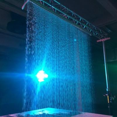 Q Dance Waterscherm Laser Lasershow Effecten Podium Blauw
