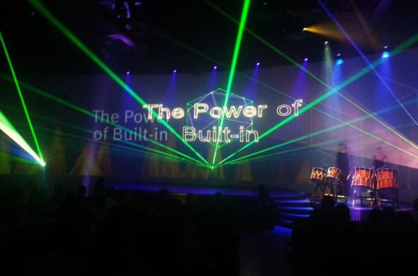 Lasershow, Siemens, Bosch, Neff, live Percussie,laseranimatie, laseranimatie op maat