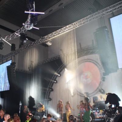 Podium Waterscherm Optreden Personeelsfeest Opening