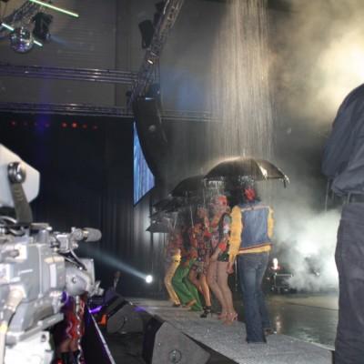 Waterscherm modeshow Antwerpen De Jonge Flowsystemens Dansen Personeelsfeest
