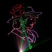 Huwelijks Show Themashow Laser Lasershow Animatie Bruid Roos